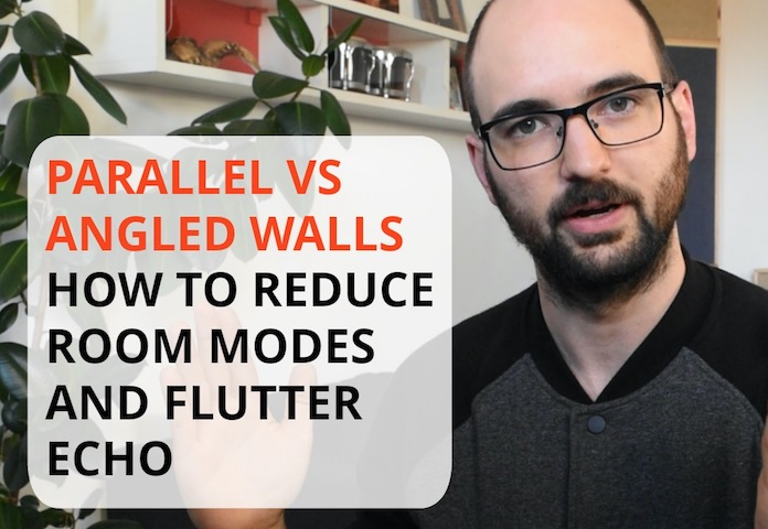 "Cover image for the Acoustics Insider blog post ""Parallel Walls vs Angled Walls - How To Treat Room Modes And Flutter Echo"""
