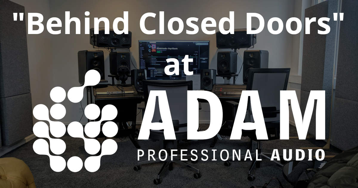 "Featured Image for Acoustics Insider article ""Behind Closed Doors at ADAM Audio"""""