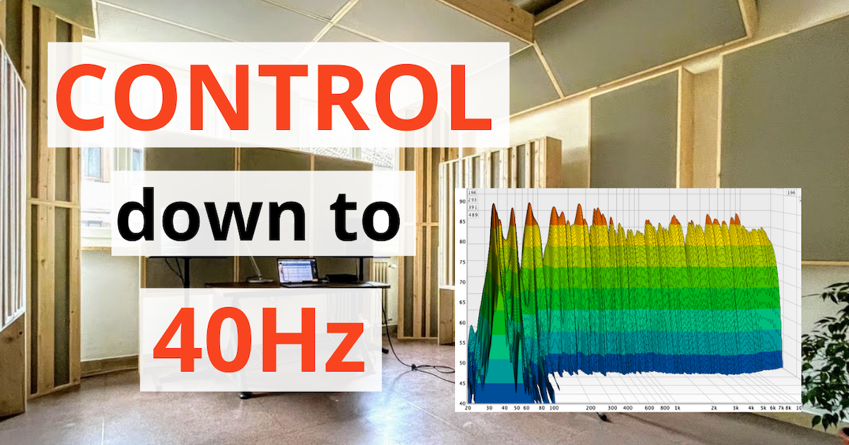acoustics insider blog post featured image case study bass trap control down to 40Hz with measurements